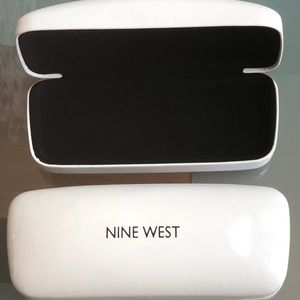 New Nine West Eyeglass case clamshell hard white